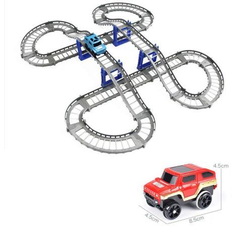 Track Electric car Building Blocks Toys 1