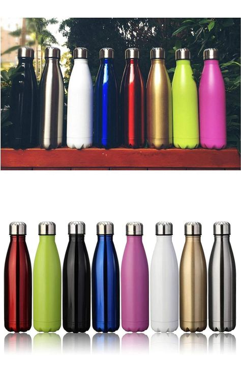 17oz Double Wall Vacuum Insulated Stainless Steel Water Bottle A1