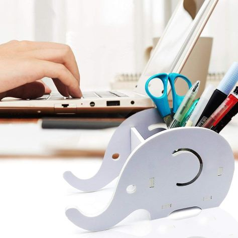 2-Packs DIY Elephant Pencil Holder with Phone Stand 1