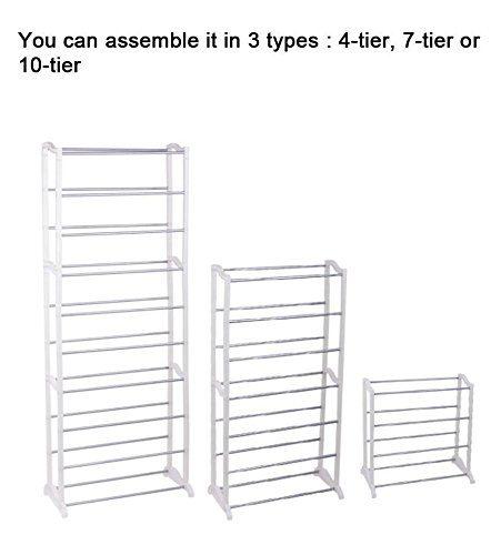 30 Pair 10 Tier Space Saving Storage Organizer 1