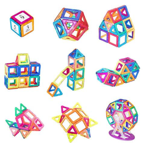 87 Pieces Educational Toys Magnetic Tiles 2