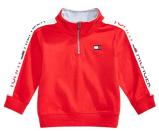 Baby Boys Cotton Half-Zip Sweatshirt 1