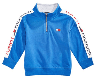 Baby Boys Cotton Half-Zip Sweatshirt 2