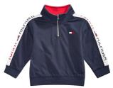 Baby Boys Cotton Half-Zip Sweatshirt