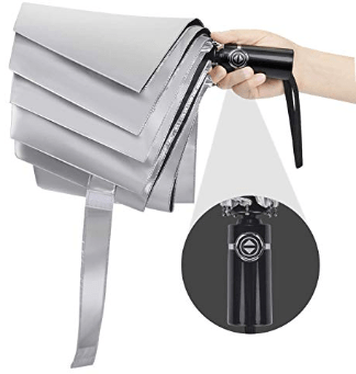 Double Canopy Travel Folding Umbrella 1