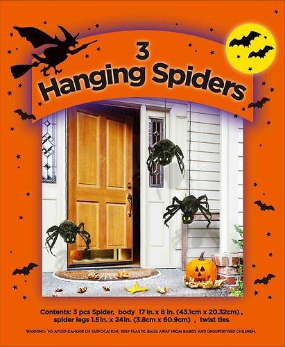 Free AR 3-Pack Hanging Spiders