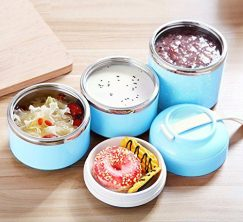 Stainless Steel Interior Bento Lunch Box 2-Tier Insulated Leak-Proof 1