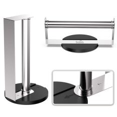 Stainless Steel Paper Towel Holder for Horizontal or Vertical Mounting or Standing 2