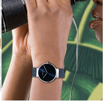 Wrist Watch with Mesh Milanese Bracelet 1