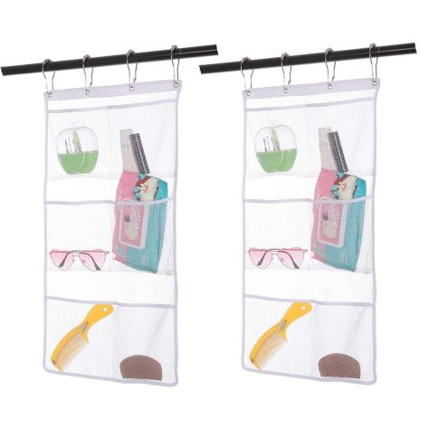 2 Pack Hanging Mesh Shower Caddy Organizer with 6 Pockets,.jpg