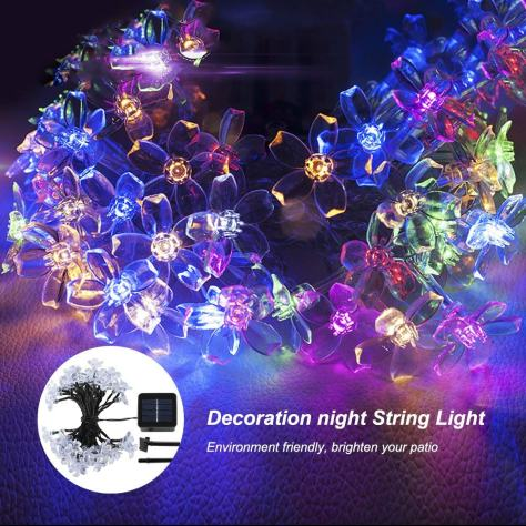 23Ft 50LED Solar Powered String Lights Outdoor 1