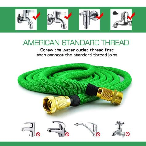 50 FT Heavy Duty Double Latex Core Expandable Water Hose 1