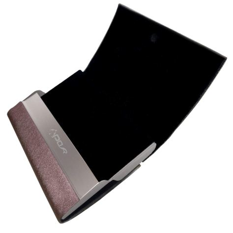 Leather Business Card Case with Magnetic Shut 1