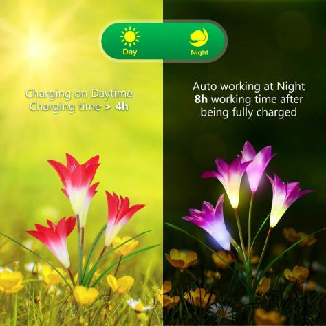 Multi-Color Changing LED Solar Powered Lights 1
