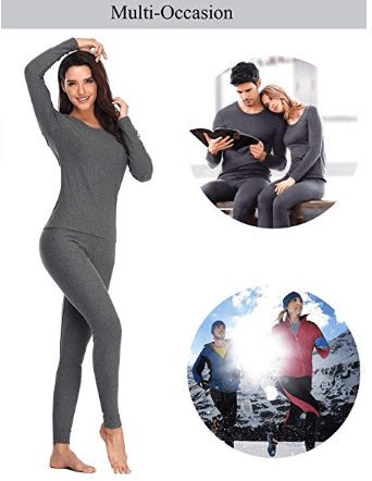 Thermal Underwear for Women Cotton Long Johns Set Ultra-Soft Base Layer.png 1