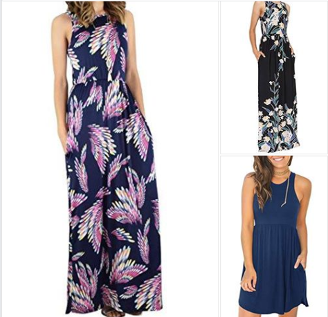 Womens Floral Long Maxi Dresses