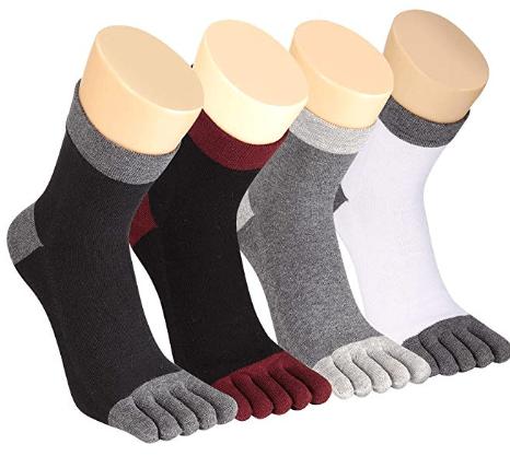 80ebfd04eeb79 Amazon : Cotton Athletic Five Finger Running Socks For Men Women ...