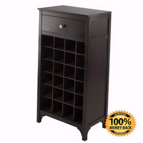 24 Bottle Wine Cabinet with Drawer