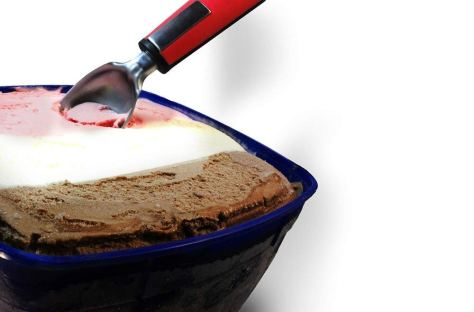 Ice cream scoop with handy non-slip plastic rubber handle 1
