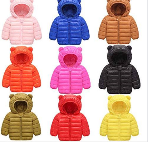 Winter Puffer Coats for Kids with Hoods