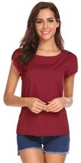 Women's Scoop Neck Cap Sleeve Tops