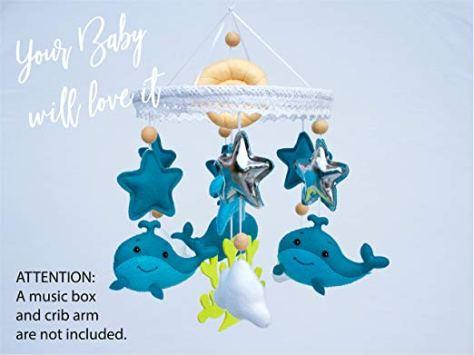 Baby Mobile Felt Nursery Crib Mobile Handmade 1