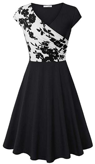 Amazon : Women's Cross V Neck Dresses  Just $5.55 W/Code (Reg : $27.99) (As of 1/23/2019 10.22 AM CST)