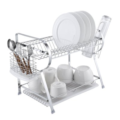 Amazon : 2 Tier Dish Drying Rack Kitchen Organizer with Drain Board Just $13.79 W/Code (Reg : $22.99) (As of 2/19/2019 9.14 PM CST)