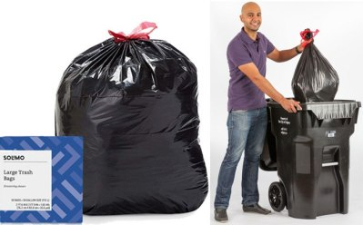 Solimo Trash Bags 50-Count ONLY $8 + FREE Shipping – Just 16¢ per Trash Bag!