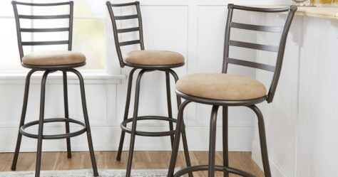 Incredible Deals Finders Three Mainstays Swivel Barstools Only 59 Unemploymentrelief Wooden Chair Designs For Living Room Unemploymentrelieforg
