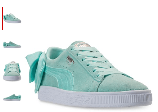Macy's : Puma Women's Suede Bow Casual Sneakers Just $17.50 (Reg : $84.99)