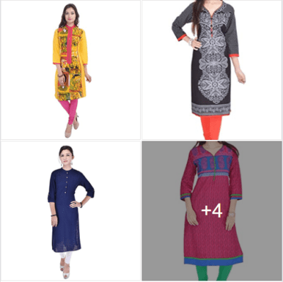Amazon : Women Multicolor Kurti Just $11.90-$14.63 (As of 2/20/2019 10.04 AM CST)