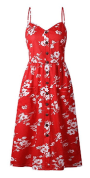 Amazon : Women's Summer Floral Bohemian Spaghetti Strap Button Down Swing Midi Dress with Pockets Just $12.56 W/Code (Reg : $31.40) (As of 2/20/2019 9.57 AM CST)
