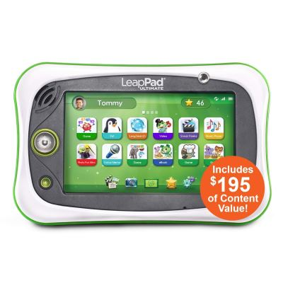 LeapFrog LeapPad Ultimate Ready for School Tablet, (Frustration Free Packaging), Green for $56 (reg: $99)
