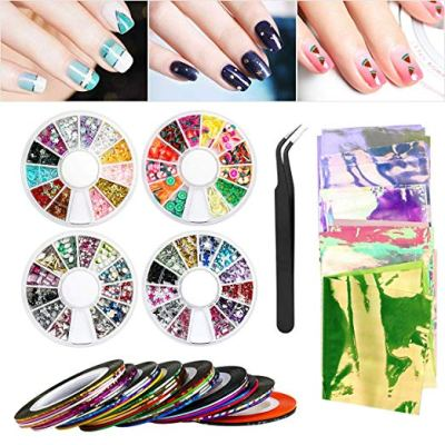 Nail Art Set, Nail Art Tools Decoration with 30 Striping Tape Nail Art Sticker for $4.40 w/code