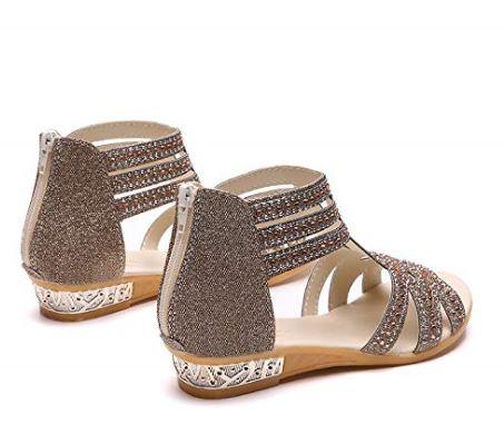 6d0c141a1 Women's Open Toe Strappy Rhinestone Dress Sandal Low Heel Wedding Shoes  from $14.88 to $15.88