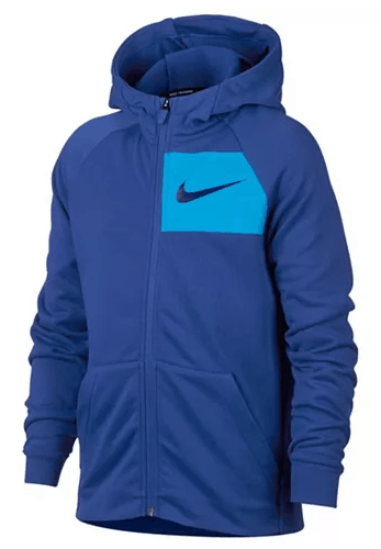 Macy's : 80% OFF LAST CHANCE!! Nike Logo-Print Zip-Up Hoodie $9.96 (Reg : $50)