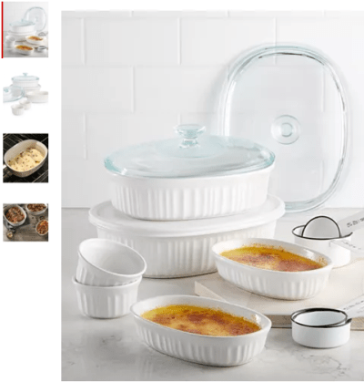 Macy's : French White 10-Pc. Bakeware Set Just $29.99 (Reg : $79.99)