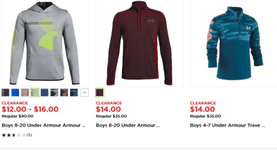 Kohl's : Up to 70% OFF Under Armour Hoodies!!
