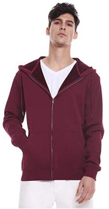 Amazon : Men's Zip up Hoodie Fleece Sweatshirt Just $8.99 W/Code + $5 Off Coupon (Reg : $34.98) (As of 3/19/2019 8.57 PM CDT)