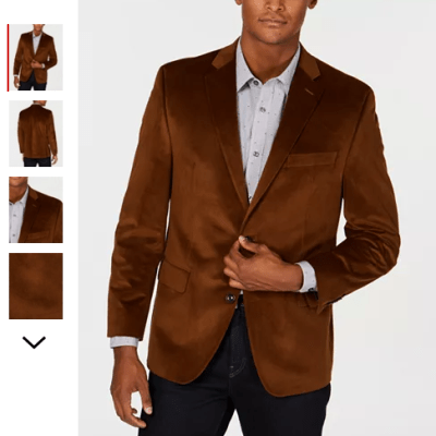 Macy's : Michael Kors Men's Classic/Regular Fit Velvet Sport Coat Just $39.93 (Reg : $295)