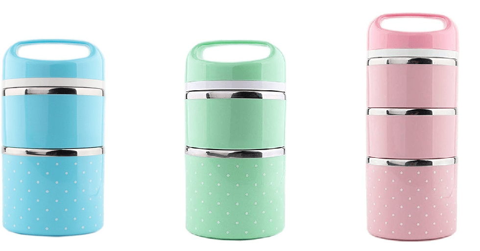 Amazon : Stackable Bento Box Leakproof Lunch Box (Blue, 33 ounce) Just $8.49 W/Code (Reg : $16.99) (As of 3/16/2019 3.15 PM CDT)