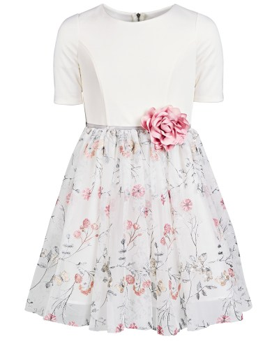 MACY'S-Pink & Violet Big Girls Embroidered Dress for $47 (reg: $94)