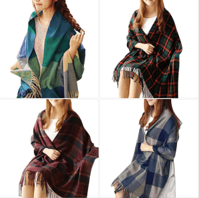 Amazon : Women' s Plaid Blanket Scarf Just $3.99 (As of 3/24/2019 8.49 PM CDT)