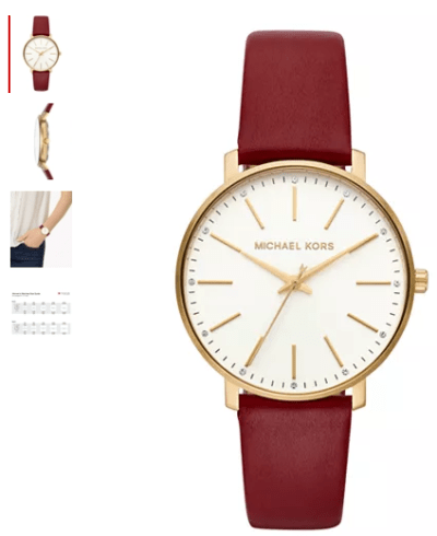 Macy's : Women's Pyper Red Leather Strap Watch 38mm Just $56.25 (Reg : $150)