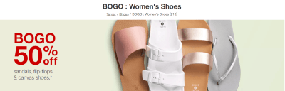 Target : Buy One Women's Shoes, Get 50% Off Second!