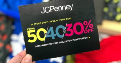Up to 50% Off Entire Purchase at JCPenney w/ Mystery Coupon Giveaway (March 8th-10th)