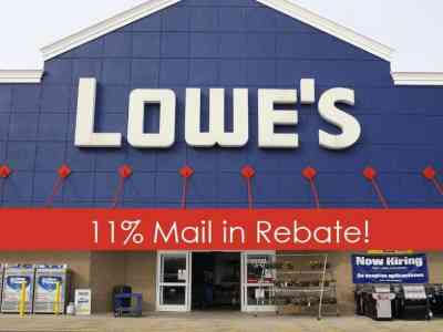 Lowe's Mail in Rebate – Get 11% Back on Almost ANYTHING Until 3/30