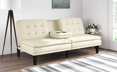 Walmart : Memory Foam Faux Leather Futon Just $189.99 (Reg : $269) + FREE Shipping!!