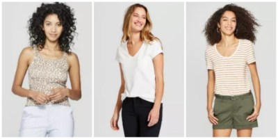 Target : Women's Tees and Tanks from Universal Thread & A New Day From $5